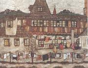 Egon Schiele House with Drying Laundry (mk12) oil painting picture wholesale