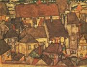 Egon Schiele Yellow City (mk12) oil painting reproduction