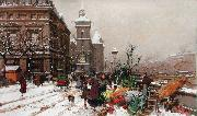 Eugene Galien-Laloue Quai aux fleur (mk21) oil painting picture wholesale