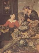 Frans Snyders detail Fruit and Vegetable Stall (mk14) oil painting