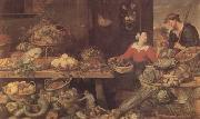 Frans Snyders Fruit and Vegetable Stall (mk14) oil painting