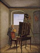 Georg Friedrich Kersting Friedrich in his Studio (mk10) oil painting picture wholesale