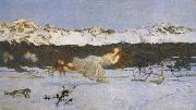 Giovanni Segantini The Punishment of The Lustful (mk19) oil painting