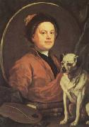HOGARTH, William Self-portrait (mk08) oil painting reproduction