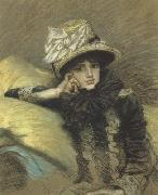 Pastel Portraits such as Berthe and his La Femme a Paris series represent Tissot's final works before his religious conversion (nn01)