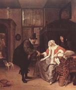 Jan Steen The Lovesick Woman (mk08) oil painting picture wholesale