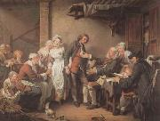 Jean Baptiste Greuze L'Accordee du Village (mk08) oil painting picture wholesale