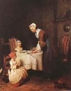 Jean Baptiste Simeon Chardin The Grace (mk08) oil painting picture wholesale