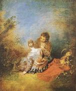 Jean-Antoine Watteau The Indiscretion (mk08) oil painting picture wholesale
