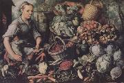 Market Woman with Fruit,Vegetables and Poultry (mk14)