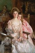 John Singer Sargent Mrs Fiske Warren (Gretchen Osgood) and Her Daughter Rachel (mk18) oil painting picture wholesale