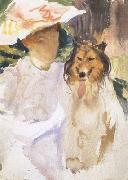 John Singer Sargent Woman with Collie (mk18)
