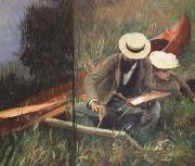 John Singer Sargent Paul Helleu Sketching with his Wife (mk18) oil painting picture wholesale