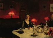 A Dinner Table at Night (The Glass of Claret) (mk18)