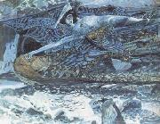 Mikhail Vrubel The Demon Carried off (mk19) oil painting picture wholesale