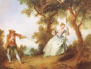 Nicolas Lancret The Swing (mk08) oil painting reproduction