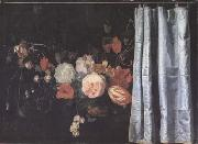 Flower Still Life with Curtain (mk14)