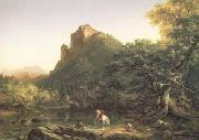 Thomas Cole The Mountain Ford (mk13) oil painting picture wholesale