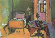 Wassily Kandinsky Bedroom in Ainmillerstrasse (mk12) oil painting picture wholesale