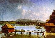 Francois  Ferriere The Old Port of Geneva oil painting picture wholesale
