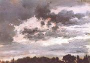 Adolph von Menzel Study of Clouds (nn02) oil painting reproduction