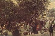 Adolph von Menzel Afternoon in the Tuileries Garden (nn02) oil painting reproduction