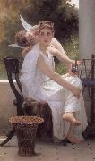 Adolphe William Bouguereau Work Interrupted (mk26) oil painting picture wholesale