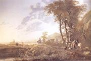Aelbert Cuyp An Evening Landscape (mk25) oil painting reproduction
