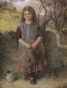 Alexander Davis cooper The Little Milkmaid (mk37) oil painting reproduction