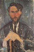 Amedeo Modigliani Leopold Zborowski a la canne (mk38) oil painting reproduction