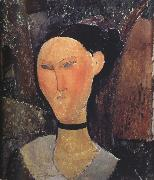 Amedeo Modigliani Woman with a Velvert Ribbon (mk39) oil painting reproduction