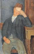 Amedeo Modigliani The Young Apprentice (mk39) oil painting reproduction