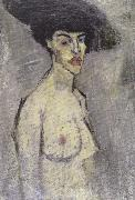 Amedeo Modigliani Nude with a Hat (mk39 oil painting reproduction