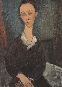 Amedeo Modigliani Femme au col Bianc (mk38) oil painting reproduction