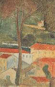 Amedeo Modigliani Paysage a Cag (mk38) oil painting reproduction