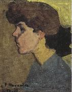 Amedeo Modigliani Head of a Woman in Profile (mk39) oil painting reproduction