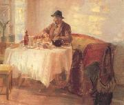 Anna Ancher Breakfast Before the Hunt (nn02) oil painting