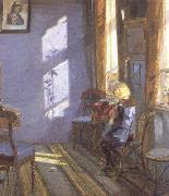 Anna Ancher Sunshine in the Blue Room (nn02) oil painting