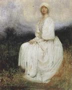Arthur hacker,R.A. The Girl in White (mk37) oil painting