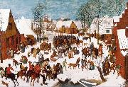 BRUEGEL, Pieter the Elder The Massacre of the Innocents (mk25) oil painting reproduction