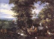 BRUEGHEL, Jan the Elder Adam and Eve in the Garden of Eden (mk25) oil painting reproduction