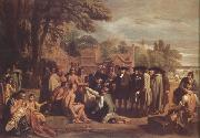 Benjamin West William Penn's Treaty with the Indians (nn03) oil painting reproduction