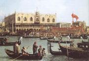 Canaletto The Bacino di S Marco on Ascension Day (mk25) oil painting reproduction