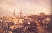 Clarkson Frederick Stanfield The Opening of London Bridge (mk25) oil painting reproduction