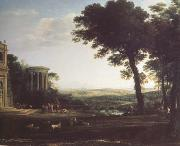 Claude Lorrain Landscape with a Sacrifice to Apolio (n03) oil painting picture wholesale