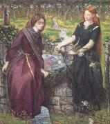 Dante Gabriel Rossetti Dante's Vision of Rachel and Leah (mk28) oil painting reproduction