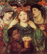 Dante Gabriel Rossetti The Bride (mk28) oil painting on canvas