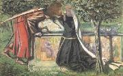 Dante Gabriel Rossetti Arthur's Tomb: The Last Meeting of Launcelort and Guinevere (mk28) oil painting picture wholesale