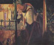 Dante Gabriel Rossetti Sir Galahad at the Ruined Chapel (mk28) oil painting picture wholesale