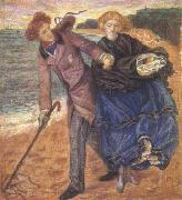 Dante Gabriel Rossetti Writing on the Sand (mk28) oil painting picture wholesale